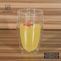 Heat Resistant Glassware Borosilicate Double Wall Glass Cup for Beverage