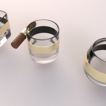 American Style Cigar Glass Cup