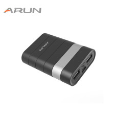 ARUN 7500mah Mobile Portable Charger Comfortable Soft-touch Design Power Bank For IPhone 7 6S Samsung Xiaomi GPS & More