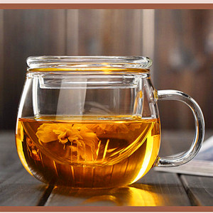 Heat Resistant Glass Tea  Cup With  Handle