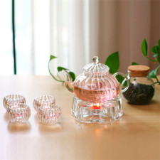 Clear Glass Teapot  Blooming Tea Pot With Infuser