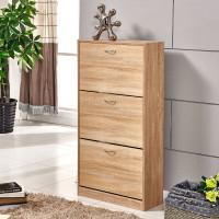 3 Drawer Wooden Shoe Cabinet Storage Cupboard Footwear Stand Rack Living Room L01801100900