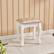 Luxury Vintage Dressing Table Stool Soft Padded Piano Chair Rest Makeup Seat New L00100900100