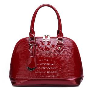 ZHENSHANG Fashion Crocodile shoulder bags shell shape pu leather handbag for women