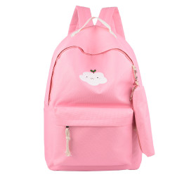 Wholesale Fashion Trendy Korean Style Cheap Casual Lightweight Canvas Laptop Bags School Backpack
