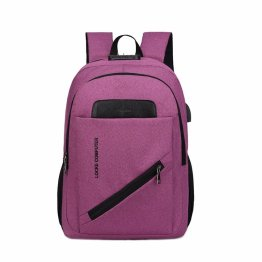 Unisex Laptop Backpack for School & Travel, Anti Theft Backpack Travel Bag, with USB Charging Port and Headphone Bookbag