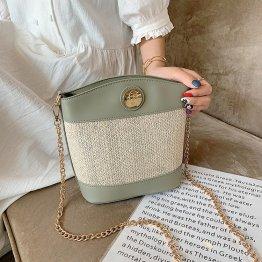 Prime Large Capacity Weave Pattern Women's Bucket Bags